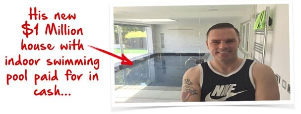 work with paul who bought himself a $1million house with pool